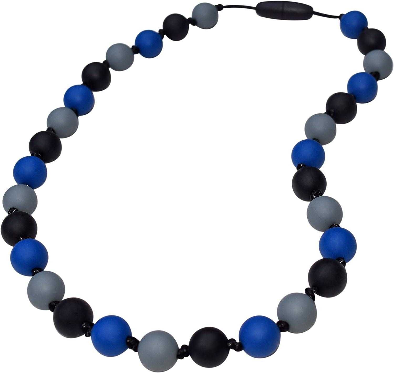 Munchables Sensory Chew Necklace for Boys (Navy Camo)