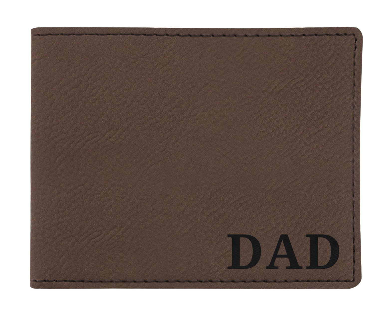 Birthday Gifts for Dad Engraved Wallet Retirement Gifts for Dad Birthday Gifts Laser Engraved Leatherette Bifold Wallet Brown
