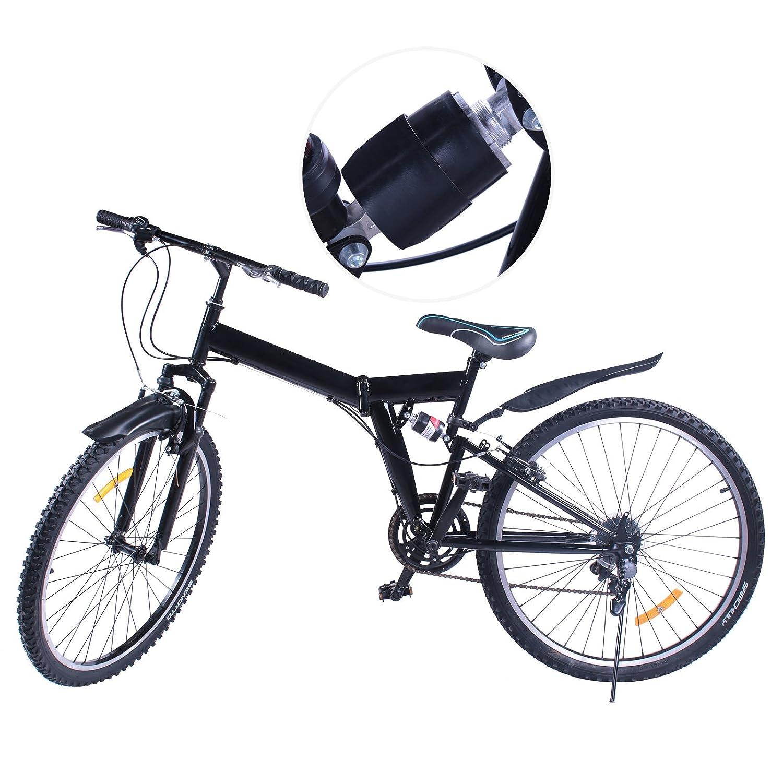 VEVOR Bicicleta MontañA Shimano De Acero Al Carbono MTB 26 Inch Mountainbike 66CM Plegable Bicicleta 6 Velocidades (6 speed): Amazon.es: Deportes y aire ...