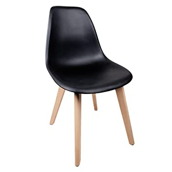 chaise scandinave coque polypropylne noir - Chaise Scandinave Noir