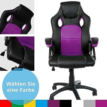 Gamer Stuhl Gaming Schreibtischstuhl Chefsessel Bürostuhl