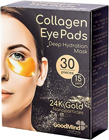 Revitalizing Collagen Under Eye Patches [30pcs] Hydrating Puffy Eyes Dark Circles for Under Eye Gel Pads for Puffiness. Skin Treatment Mask.