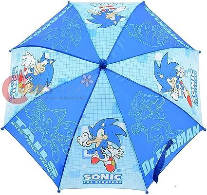 Amazon Com Sonic The Hodgehog Kids Umbrella With 3d Figure Handle Tail Knuckles Shadow Dr Eggman Garden Outdoor