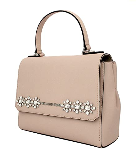 bb82eea0eab4 MICHAEL Michael Kors Women s JEWEL SMALL MESSENGER LEATHER HANDBAG BALLET   Handbags  Amazon.com