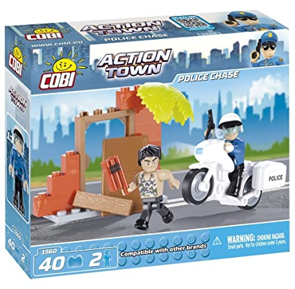 Amazon com: COBI Action Town Police Chase: Toys & Games