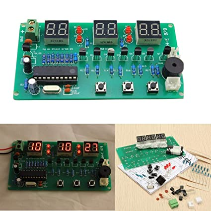 5V-12V AT89C2051 Multifunction Six Digital LED Electronic Clock Kit - Arduino Compatible SCM &