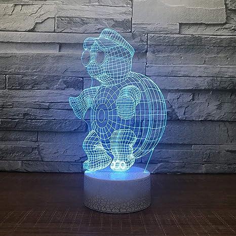 3D Led Led Mesa De Noche Para Niños Mesa De 7 Colores De Luz ...