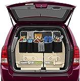 4 Pocket BackSeat/Trunk Organizer By Lebogner - Auto Interior, Trunk Organizer, Backseat Organizer With Lids, Car Organizer, Multipurpose Cargo Accessories Organizer, Back Seat Storage Organizer