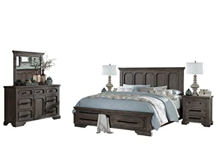 Amazon.com: Thiara French Farmhouse 5PC Bedroom Set Queen Storage ...