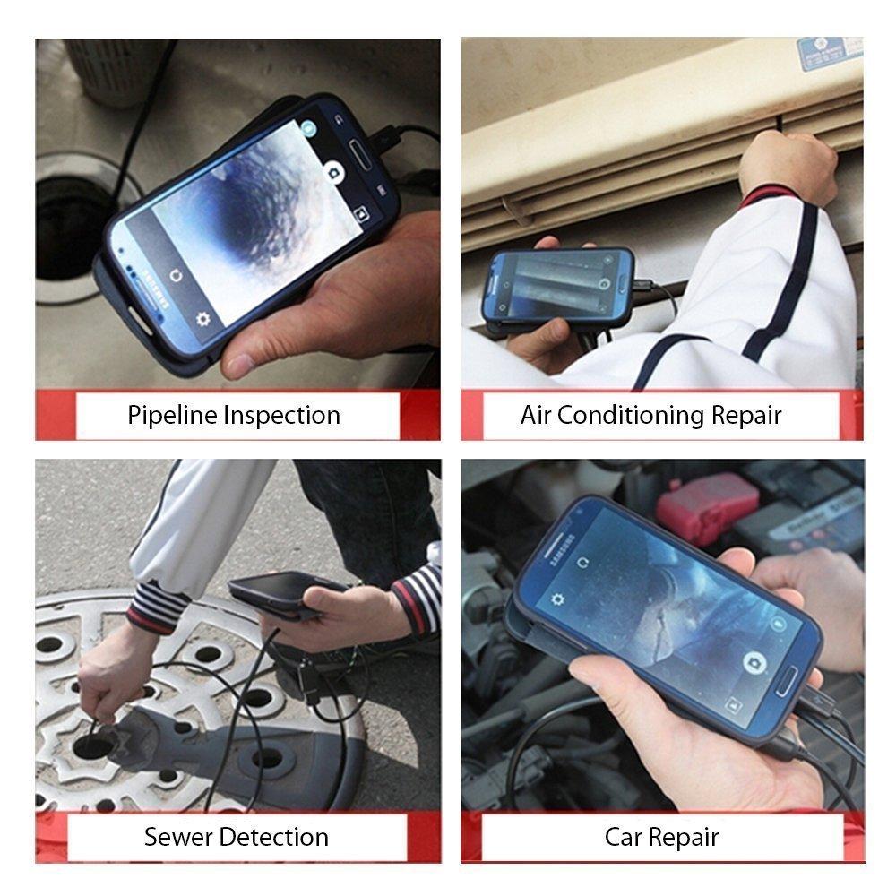 Shekar 7 mm 3,5M Android Telecamera d/'Ispezione Endoscopio da 3 in 1 USB//Micro USB//Type-C Periscopico Impermeabile per Smartphone e Tablet con funzione UVC e OTG e per PC portatile