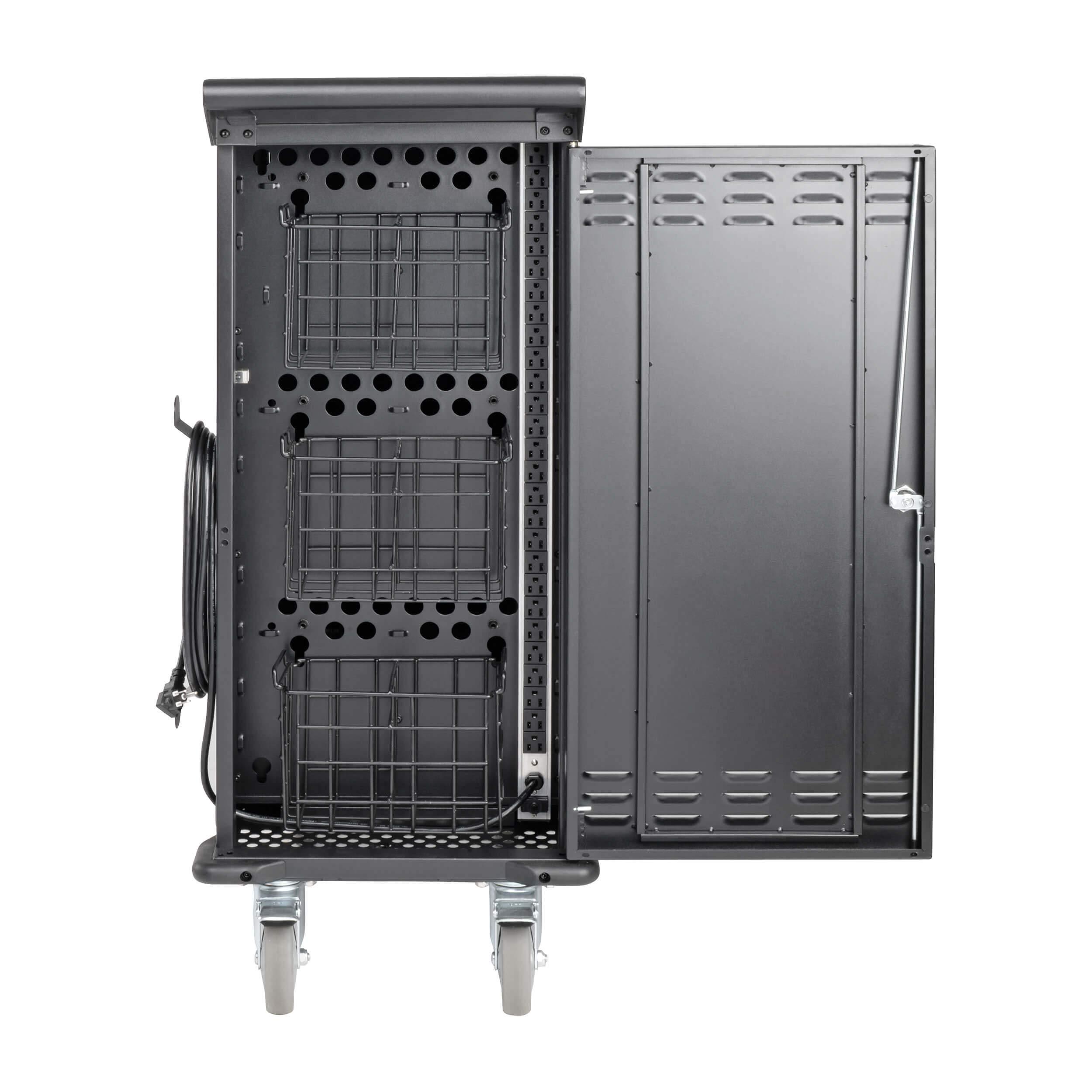 Tripp Lite 27-Port AC Mobile Charging Cart Storage Station for Chromebooks, iPads, Laptops, Tablets, Black (CSC27AC) by Tripp Lite (Image #5)