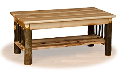 Rustic Hickory Coffee Table  ALL HICKORY   Amish Made