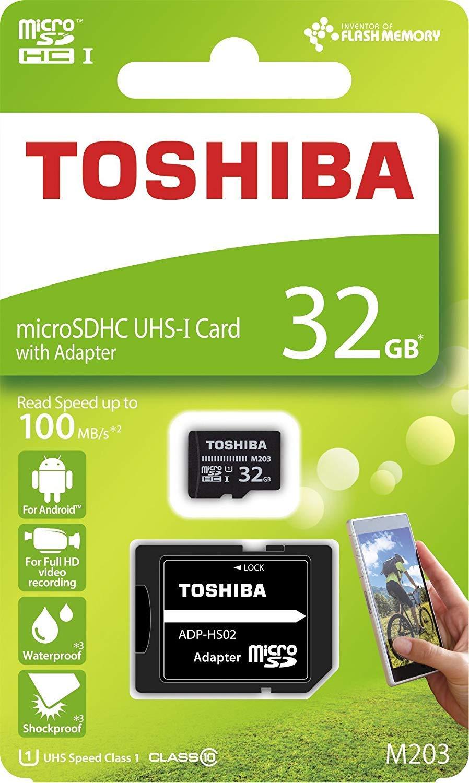 Toshiba - Tarjeta de Memoria microSD (32 GB, M203, microSDHC ...