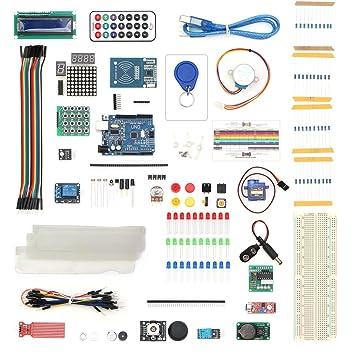 vkmaker Master Kit RFID con Motor Servo, LCD, Varios Sensores para Arduino IDE AVR MCU Alumno Compatible con Arduino UNO R3 Mega 2560 Nano Robot: Amazon.es: ...
