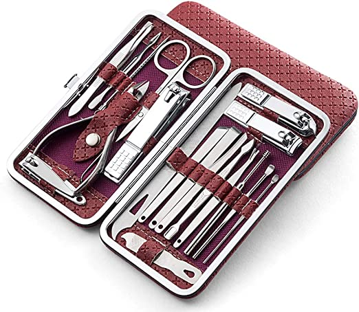Liutao Cortaúñas Manicure Manicure Pedicure Set con cortaúñas Tijeras Set Travel Family Herramientas for el Cuidado de Las uñas Utensilios y Accesorios (Color : A): Amazon.es: Hogar