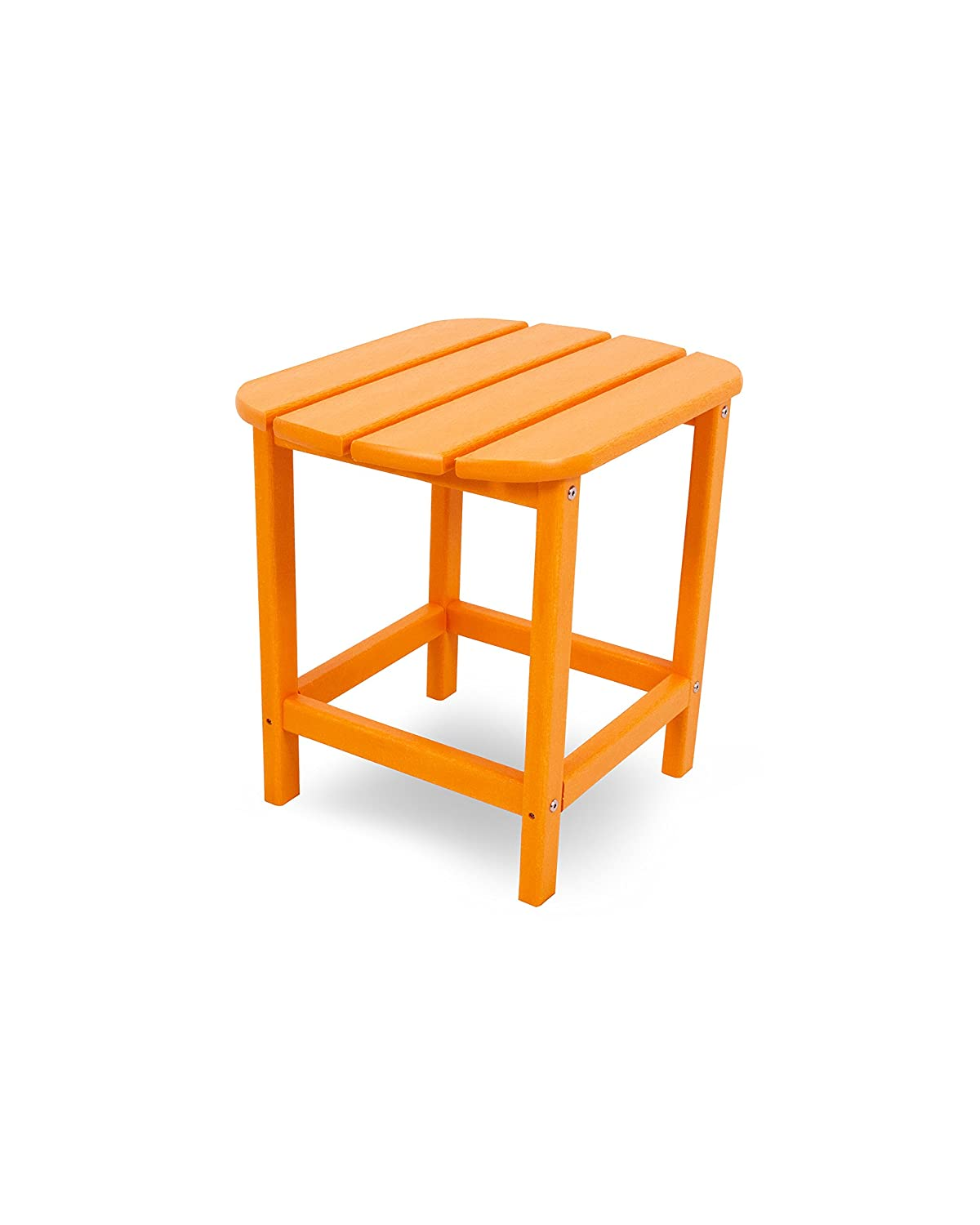 "POLYWOOD SBT18TA South Beach 18"" Outdoor Side Table, Tangerine"