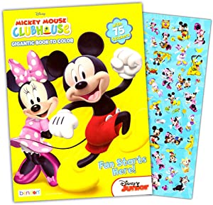 Mickey Mouse Coloring Book with Stickers
