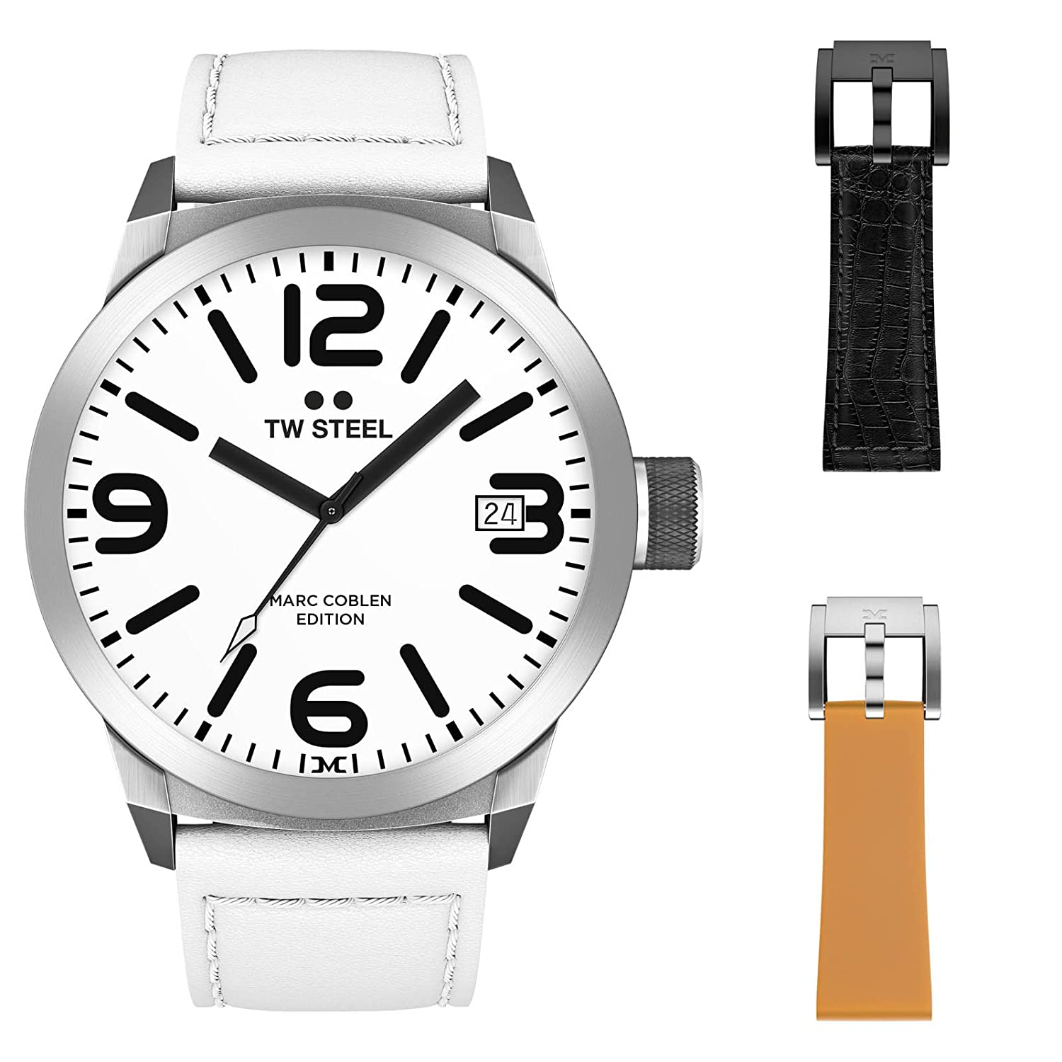 TW Steel Marc Coblen Edition 50 MM Set mit 2 ArmbÄndern TWMC43 - SET100