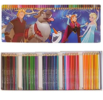 Coloriage Reine Des Neiges Couleur.Boite 50 Crayon De Couleur Frozen Reine Des Neiges Dessin Coloriage