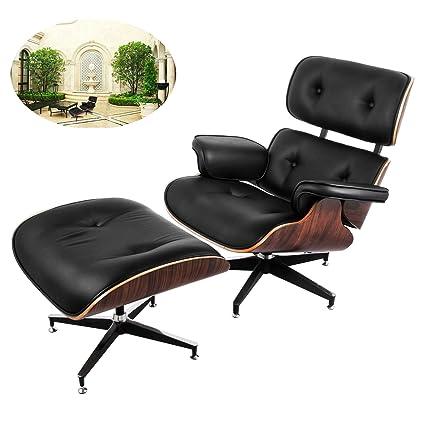 Beau Happybuy Mid Century Lounge Chair And Ottoman Set 7 Ply Walnut Laminated  Veneer Classic Style