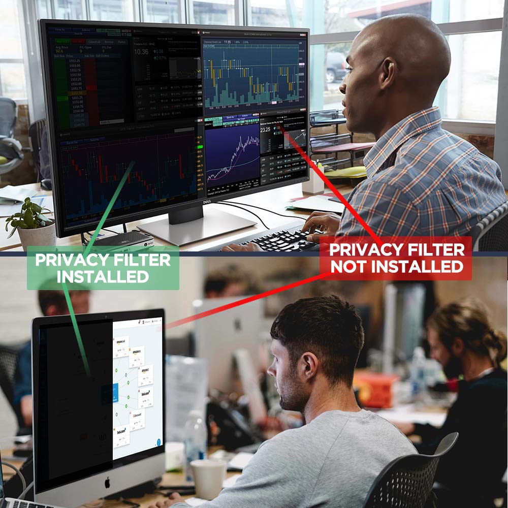 Privacy Screen Filter 14''- Information Protection Privacy Filter for Laptop - Anti-Glare, Anti-Scratch, Blocks 96% UV - Matte or Gloss Finish Privacy Screen Protector - 16:9 (14 inch) by Hunsuetek (Image #5)