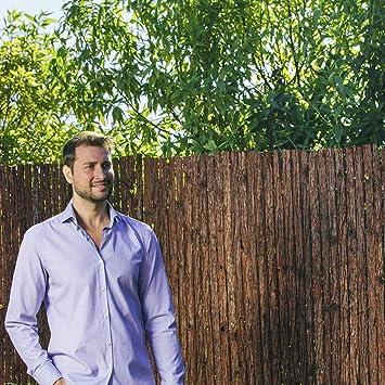 Corteza de pino tejida - Laminas de corteza de pino natural tejidas con alambre galvanizado (2x5m): Amazon.es: Bricolaje y herramientas