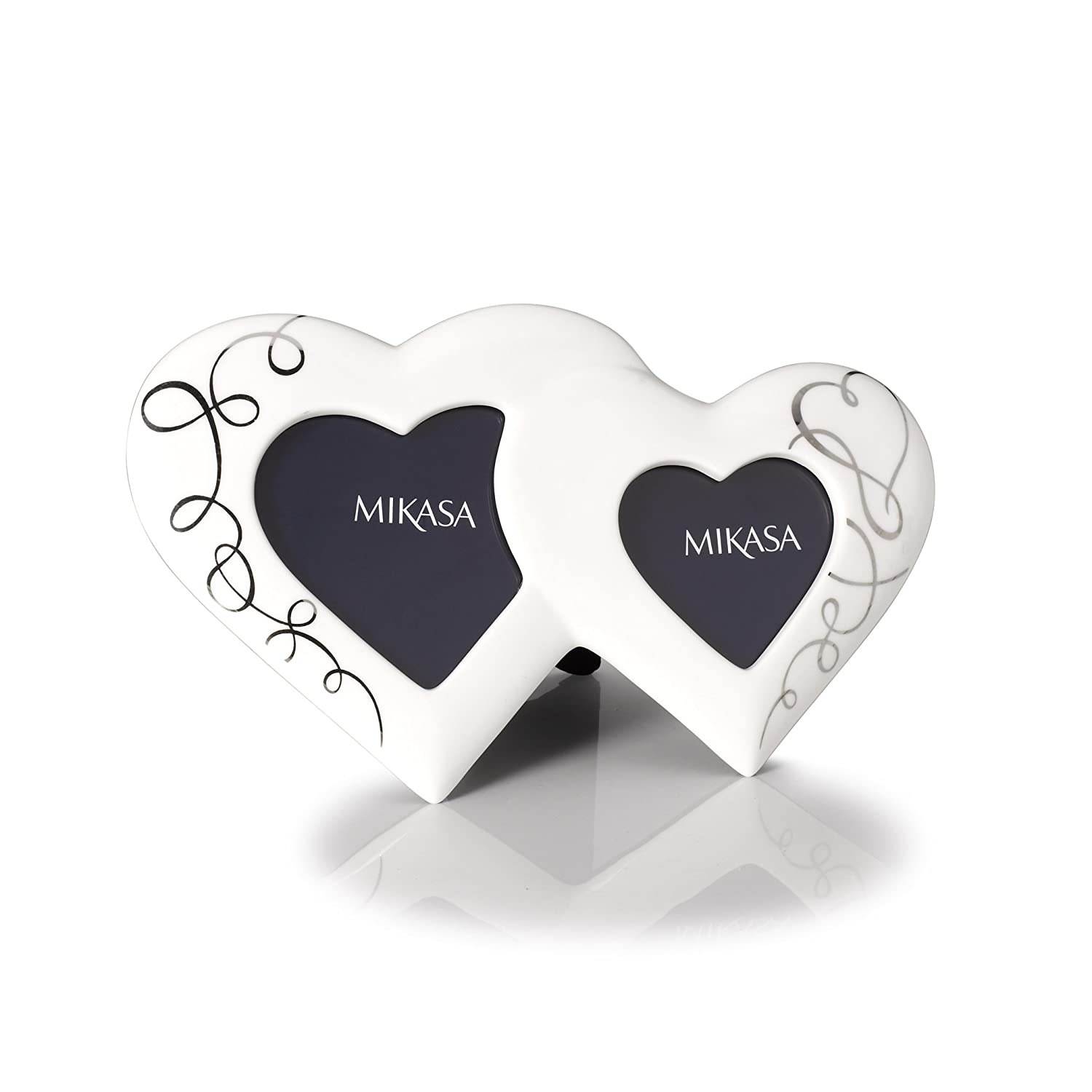Amazoncom Mikasa Love Story Double Heart Frame Home Kitchen