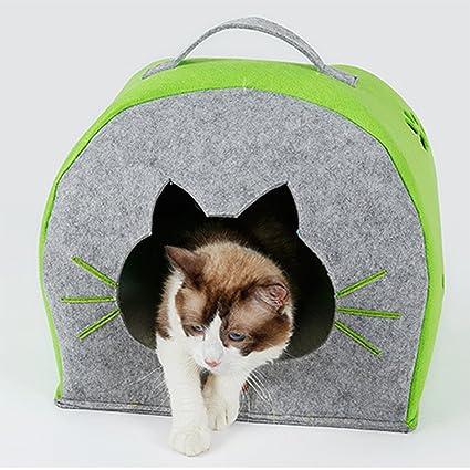 RANRANHOME Cama Portátil para Gatos Y Perros Casa Cómoda Cama para Colchones Cama Lavable,Gray