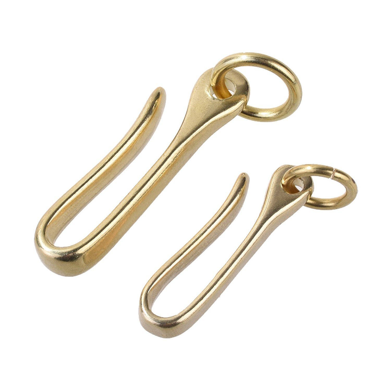 2pcs Laiton Ceinture Porte-clés U Crochet Porte-clés Clip motard pour porte-clés Portefeuille Chaîne goodxy1