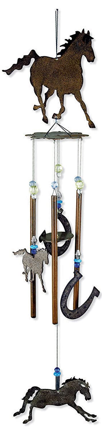 Sunset Vista Designs Horsing Around Horse Wind Chime, Medium 80315