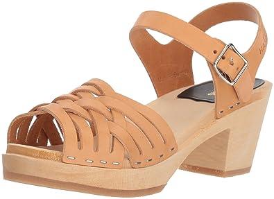 8b10ae2c0ddc swedish hasbeens Women s Braided High Heeled Sandal Warn Yellow 35 EU 5 M US