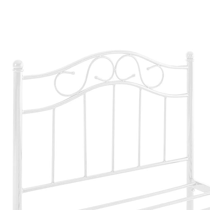 [en.casa] Cama de metal 120x200 blanca con colchón incluido estructura base con somier: Amazon.es: Hogar
