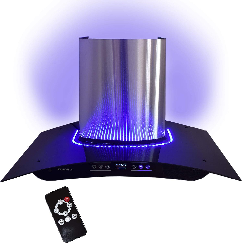 Campana 90 cm con LED azules, pantalla táctil y mando a distancia: Amazon.es: Grandes electrodomésticos