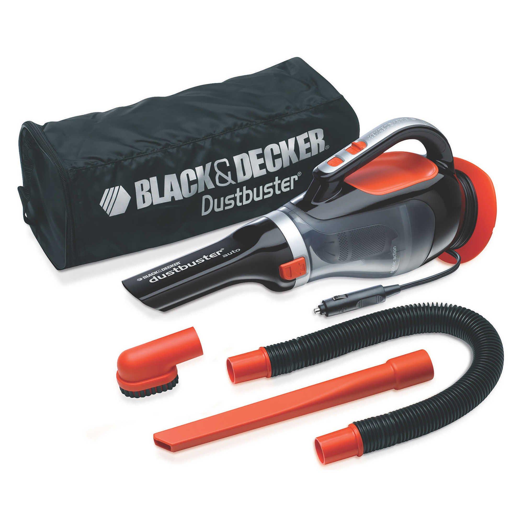 Black & Decker Dustbuster Portable 12V Auto Vacuum in Orange/Black