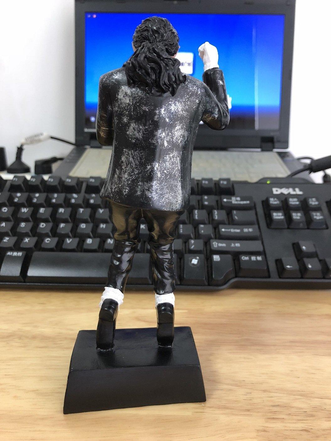 OZUKO Michael Jackson Action Figure King of Pop Bambola Memorial Statue Home Living Romm scrivania Decorazione