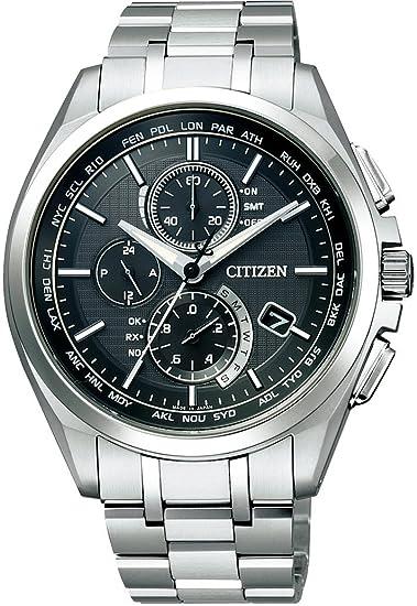 newest 12090 31657 [シチズン]CITIZEN 腕時計 ATTESA アテッサ Eco-Drive エコ・ドライブ 電波時計 ダイレクトフライト 針表示式 薄型  マスコミモデル AT8040-57E メンズ