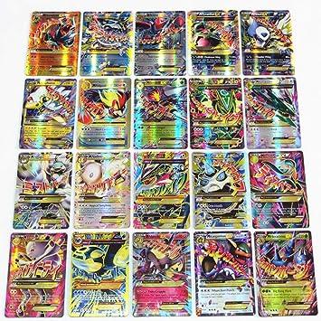 ESOOR Pokemon Cards EX GX Flash Card Trading Puzzle Fun Card ...