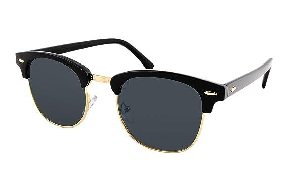 fbf593ce9d60 FEISEDY Classic Half Frame UV400 Sunglasses For Men Women Classic Brand  B1510  Amazon.co.uk  Clothing