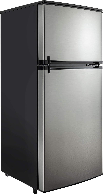 RV Refrigerator Stainless Steel | 4.5 Cubic Feet | 12V | 2 Door Fridge