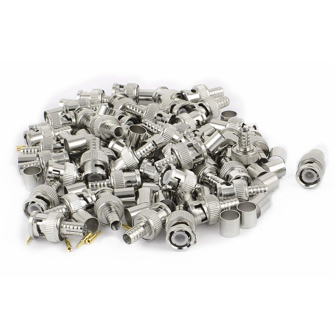 Sourcingmap/® 50 Sets 3 STK BNC Crimp Stecker Typ RG 59 Coax Kabel Adapter Stecker de
