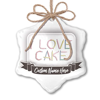 Amazon NEONBLOND Create Your Ornament I Love Cake Birthday