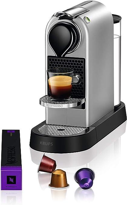 Krups Nespresso CitiZ Independiente Máquina espresso Plata 1 L - Cafetera (Independiente, Máquina espresso, 1 L, Cápsula de café, 1260 W, Plata): Amazon.es: Hogar