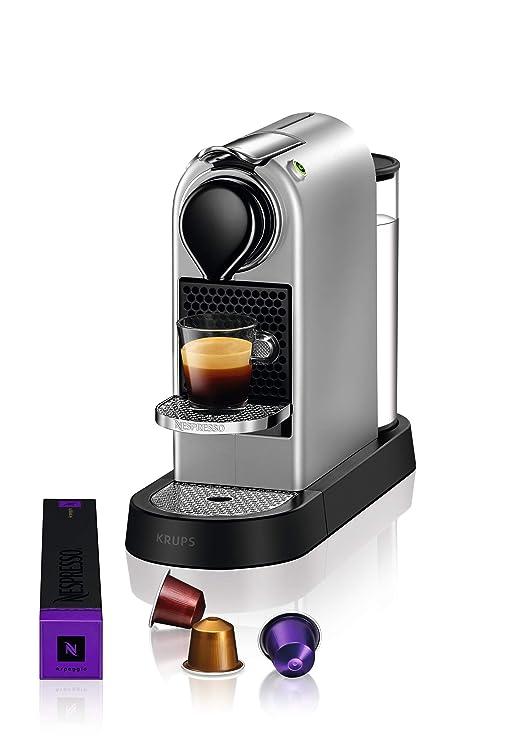 Krups Nespresso CitiZ Independiente Máquina espresso Plata 1 L ...