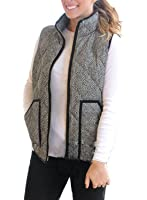 HOTAPEI Women's Slim Fall Lightweight Down Vest Outdoor Puffer Quilted Vest with Zipper