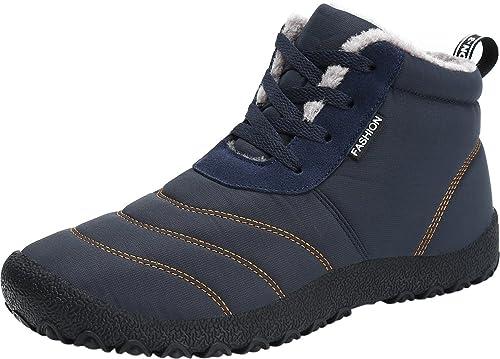 Gaatpot Chaussures Bottes Hiver de Neige Fourrées Imperméable Bottines Mode  Courtes avec Doublure Chaude Homme Femme ef3d20a93961