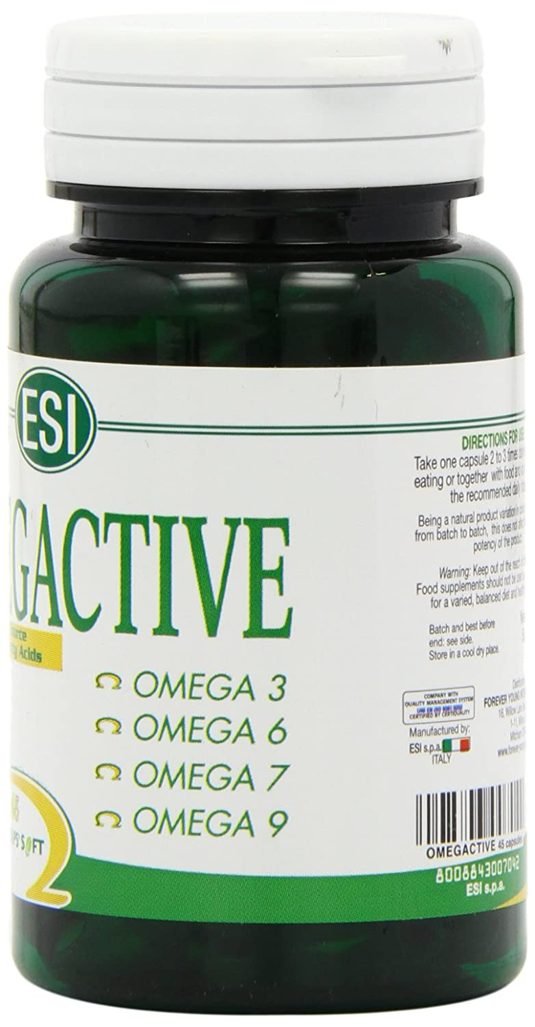 Amazon.com: ESI Omegactive Omega 3 6 7 9 , 45 VegiCaps: Health & Personal Care