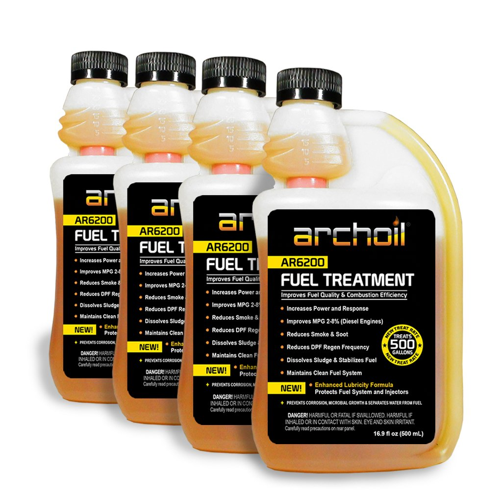 Archoil Fuel Modification Complex FOUR PACK - 4 x 8oz Bottles of AR6200 - Treat Up To 2,560 Gallons of Fuel by Archoil