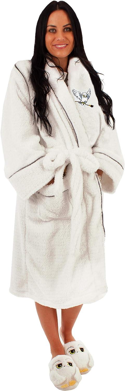 HARRY POTTER Accappatoio Bianco da Donna Hedwig Abito da Donna di Lusso di Hog