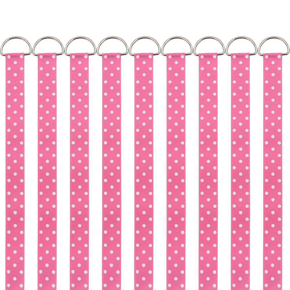 QtGirl Hair Bow Holders 9 Pcs 3-Feet Long Bow Hanger Hair Clip Storage Organizer