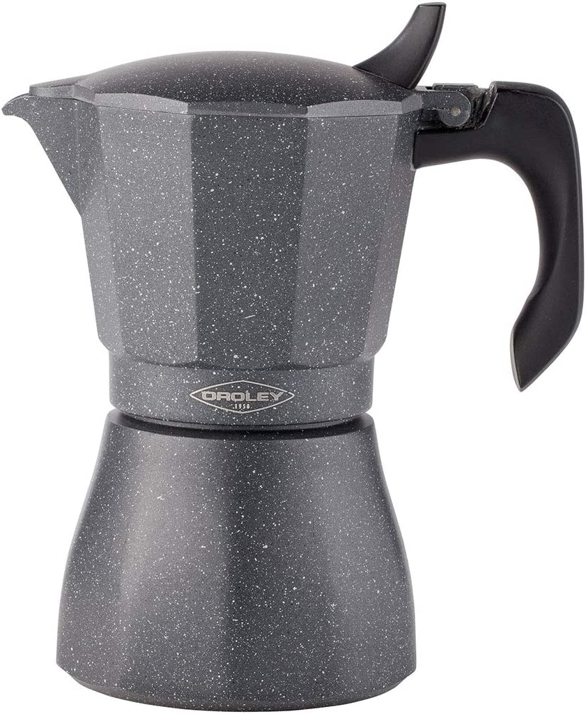 Oroley - Cafetera Italiana Petra | Base de Acero Inoxidable | 6 ...